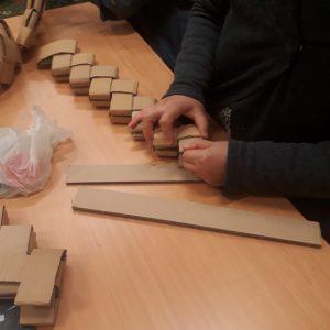 Atelier upcycling carton